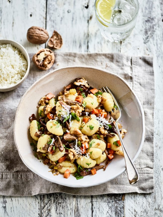 Walnut and Wild Mushroom Gnocchi