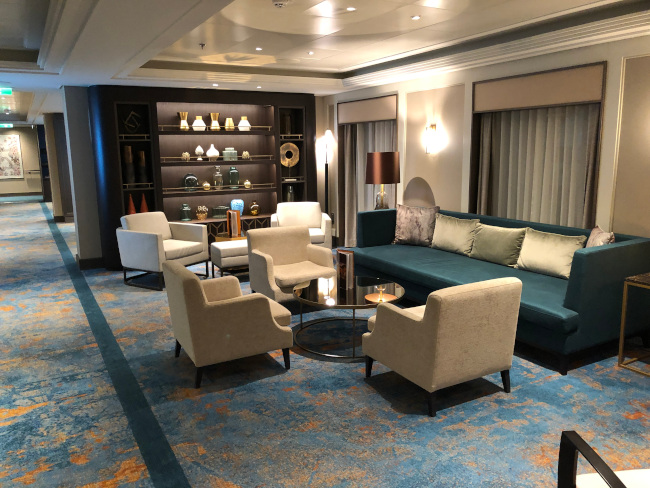 Relaxing onboard lounges