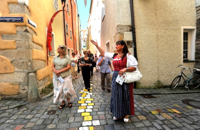 Passau cobbled streets