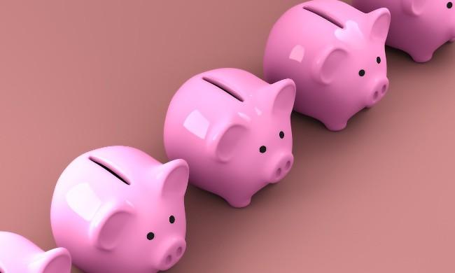 piggy bank row