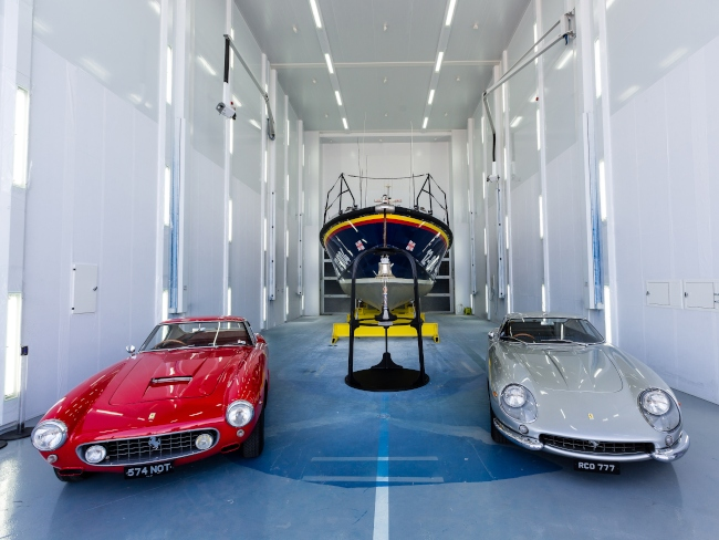Two vintage ferraris gift in will RNLI/Nathan Williams