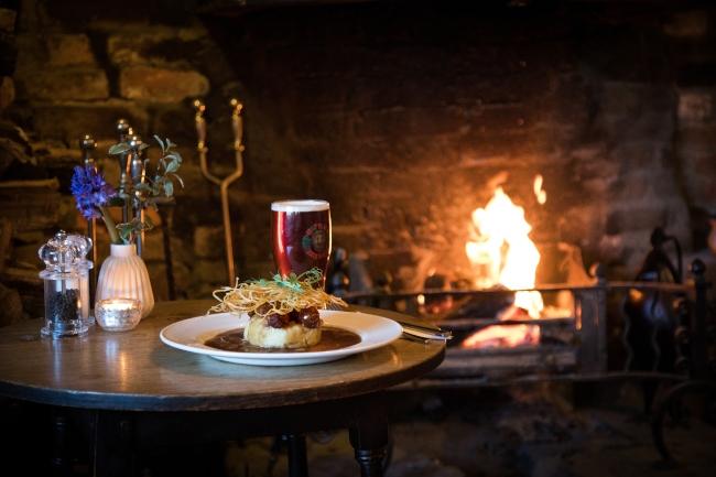 Merry Harriers serves English pub classics