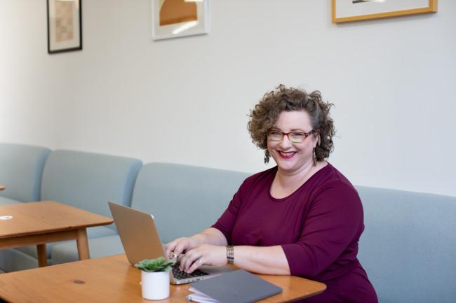 older woman embracing positive change